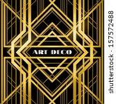 abstract geometric pattern  art ... | Shutterstock .eps vector #157572488