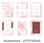 abstract wedding invitation...   Shutterstock . vector #1575729142