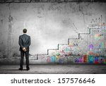 image of businessman with... | Shutterstock . vector #157576646