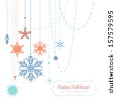 christmas background with... | Shutterstock .eps vector #157579595