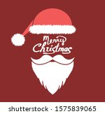 santa claus beard and hat in... | Shutterstock .eps vector #1575839065