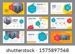 abstract presentation templates ... | Shutterstock .eps vector #1575897568
