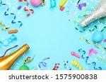 colorful ribbons with confetti... | Shutterstock . vector #1575900838