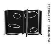 open book vector icon.black...