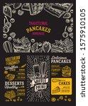 waffle and pancake menu... | Shutterstock .eps vector #1575910105