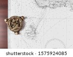 Nautical Chart With Compass ...