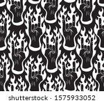 horn gesture. hard rock theme...   Shutterstock .eps vector #1575933052