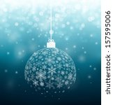 christmas ball from snowflakes  ... | Shutterstock .eps vector #157595006