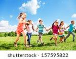 many children  boys and girls... | Shutterstock . vector #157595822