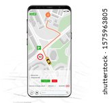 map gps navigation mockup... | Shutterstock .eps vector #1575963805