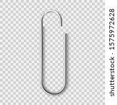 realistic metal paper clip... | Shutterstock .eps vector #1575972628