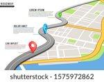 roadway infographic. locations... | Shutterstock .eps vector #1575972862