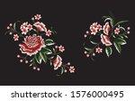 embroidery vector design for... | Shutterstock .eps vector #1576000495