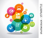 internet concept. social... | Shutterstock .eps vector #157600712