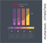 business data visualization.... | Shutterstock .eps vector #1576027642