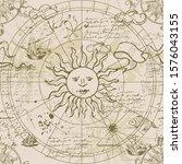 astrological chart of the... | Shutterstock .eps vector #1576043155