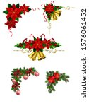 christmas decorations with fir... | Shutterstock .eps vector #1576061452