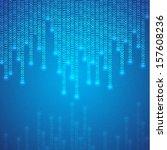 Blue Binary Background. Eps10...