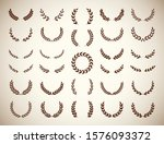 collection of different vintage ... | Shutterstock .eps vector #1576093372