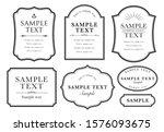 elegant and simple black frame... | Shutterstock .eps vector #1576093675