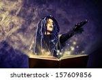little girl in a costume of... | Shutterstock . vector #157609856
