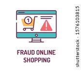 fraud online shopping color...