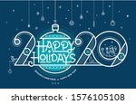 happy holidays  season's... | Shutterstock .eps vector #1576105108