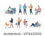 different colour cartoon people ... | Shutterstock .eps vector #1576122532