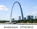 The Gateway Arch With The City...