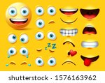 emoticon character creation... | Shutterstock .eps vector #1576163962