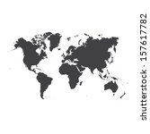 world map  | Shutterstock .eps vector #157617782