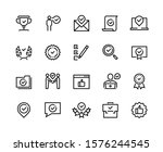 approve line icons. quality... | Shutterstock .eps vector #1576244545