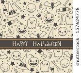 vector halloween seamless... | Shutterstock .eps vector #157624778