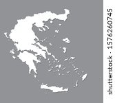 blank map of greece. high...