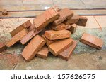 Group Of Red Bricks On...