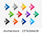 arrow style directional number... | Shutterstock .eps vector #1576266628