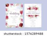 beautiful wedding invitation... | Shutterstock .eps vector #1576289488