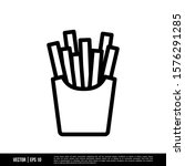 the best french fries icon... | Shutterstock .eps vector #1576291285