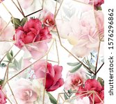 seamless floral pattern with...   Shutterstock . vector #1576296862