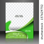 vector dental flyer   poster... | Shutterstock .eps vector #157629752