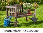 Garden Bench With Autumn...