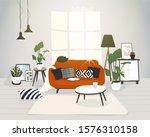 living room in modern... | Shutterstock .eps vector #1576310158