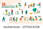 family outdoor activities ... | Shutterstock .eps vector #1576315228