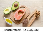 food with unsaturated fats | Shutterstock . vector #157632332