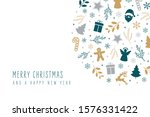 christmas icons elements...   Shutterstock .eps vector #1576331422
