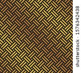 seamless gold and black weave...   Shutterstock .eps vector #1576342438