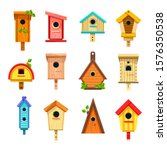 Wooden Birdhouses  Isolated...