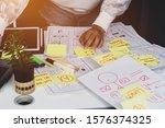 web designer planning mobile...