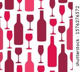 seamless background with wine... | Shutterstock .eps vector #1576376572