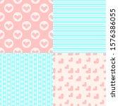 valentine's day patterns. set... | Shutterstock .eps vector #1576386055